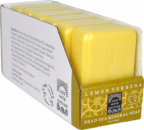 One With Nature Dead Sea Mineral Bar Soap Lemon Verbena Perspective: front