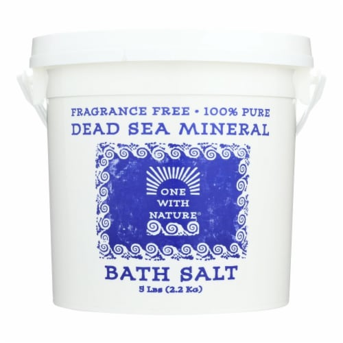 One With Nature Bath Salt, Dead Sea Bath Salts, Fragrance Free  - 1 Each - 5 LB Perspective: front