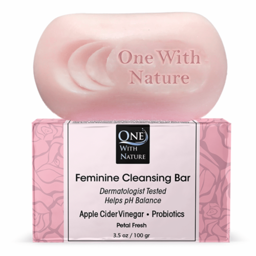 One With Nature Petal Fresh Feminine Cleansing Bar Perspective: front