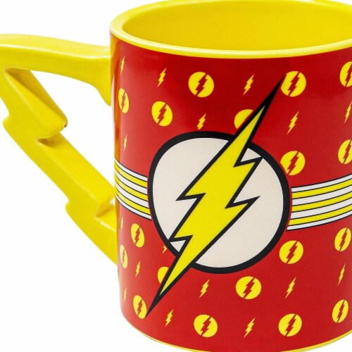 Flash 112794 Flash 20 oz Stripes Logo Mug with Lightning Handle Perspective: front