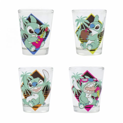 Disney 809053 Disney Lilo & Stitch Shot Glass Set - 4 Piece Perspective: front
