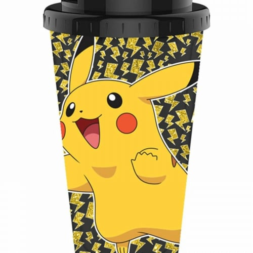 Pokemon 809050 Pokemon Pikachu Travel Mug - 16 oz Perspective: front