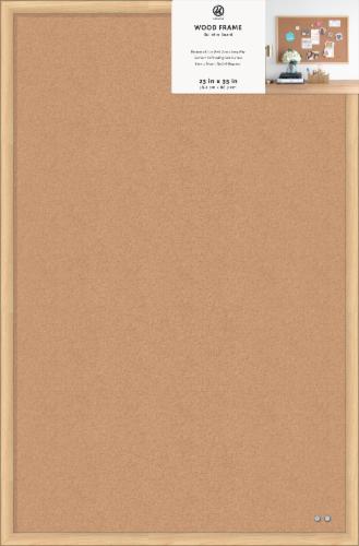 U Brands Wood Frame Bulletin Board Perspective: front
