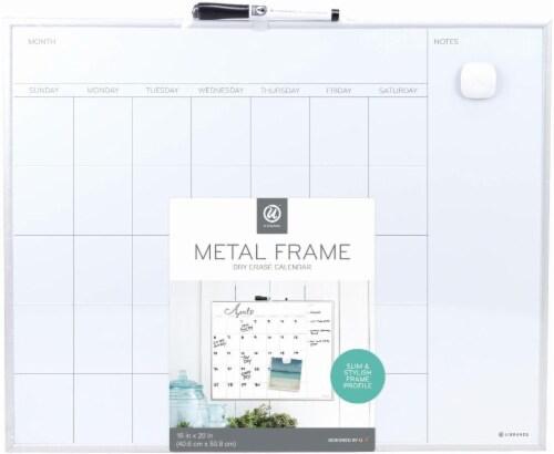U Brands Metal Frame Dry Erase Calendar Perspective: front