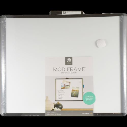 U Brands Mod Frame Magnetic Dry Erase Board Perspective: front