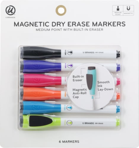 U Brands Medium Point Magnetic Dry Erase Markers Perspective: front