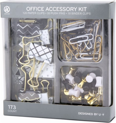 U Brands Office Accessory Kit - Black/White Perspective: front
