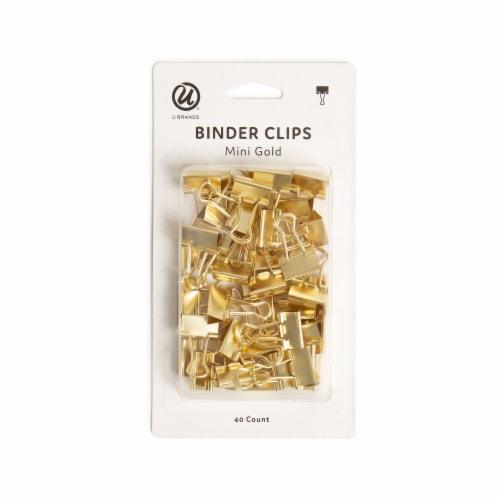 U Brands Mini Binder Clips - Gold Perspective: front