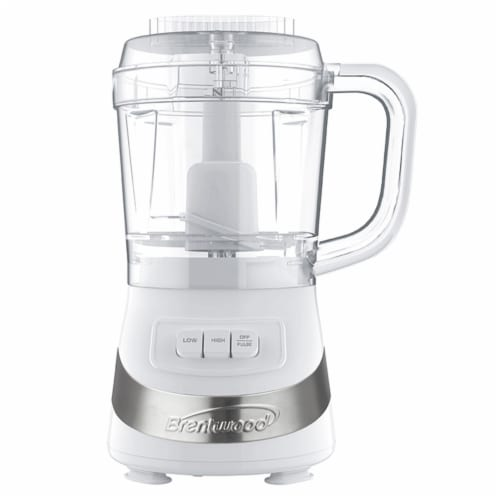 Brentwood FP-549W 3 Cup Food Processor, White Perspective: front