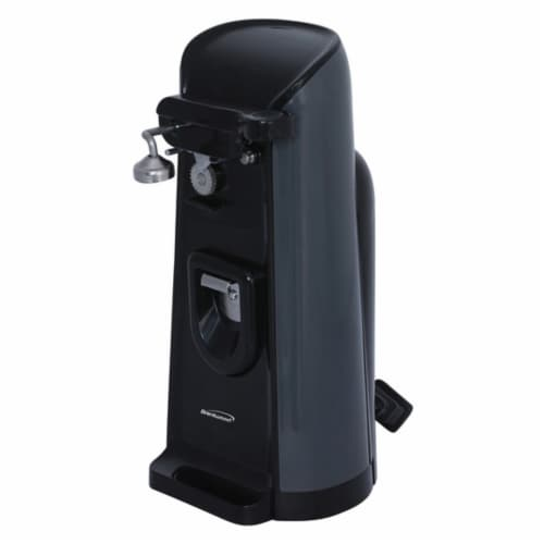 Brentwood Electric Can Opener with Knife Sharpener and Bottle Opener - Black Perspective: front