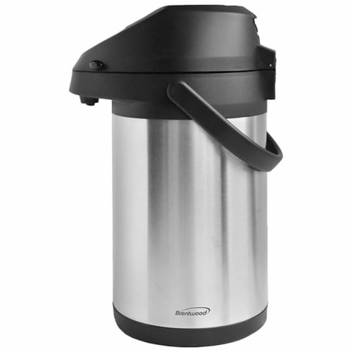 Brentwood CTSA-2500 Airpot Hot & Cold Drink Dispenser, Stainless Steel Perspective: front