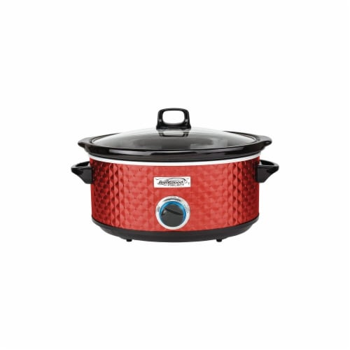 Brentwood Appliances RA50075 7 qt Slow Cooker - Red Perspective: front