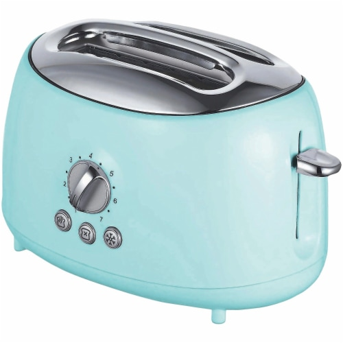 Brentwood TS-270BL 2 Slice Retro Toaster, Blue Perspective: front