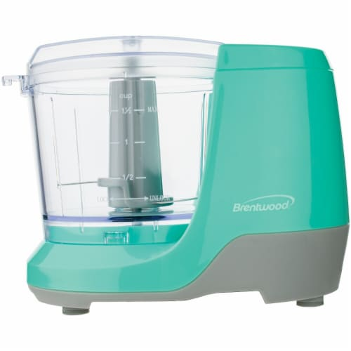 1.5-Cup Mini Food Chopper (Blue) Perspective: front