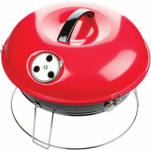 Brentwood Appliances BB-1400R 14 in. Portable Charcoal Grill, Red Perspective: front