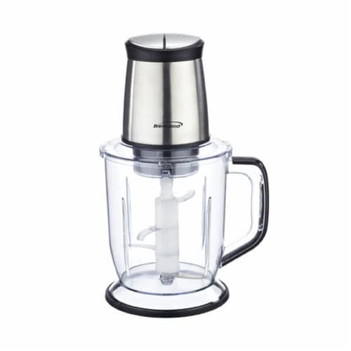 Brentwood Appliances FP-544S 300W 6.5 Cup Stainless Steel Food Processor Perspective: front