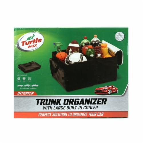 Turtle Wax Interior Collapsible Trunk Organizer & Built-In Cooler Perspective: front