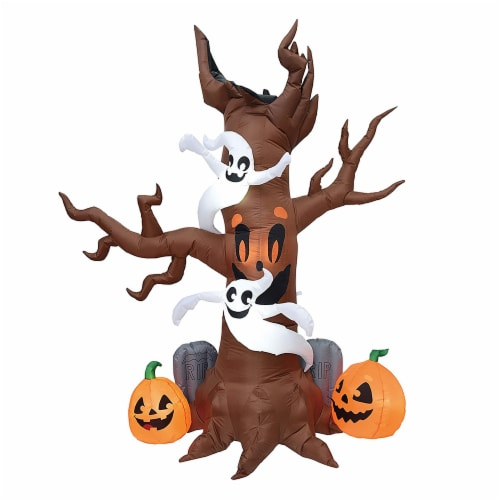 Joiedomi Halloween Scary Tree Inflatable Perspective: front