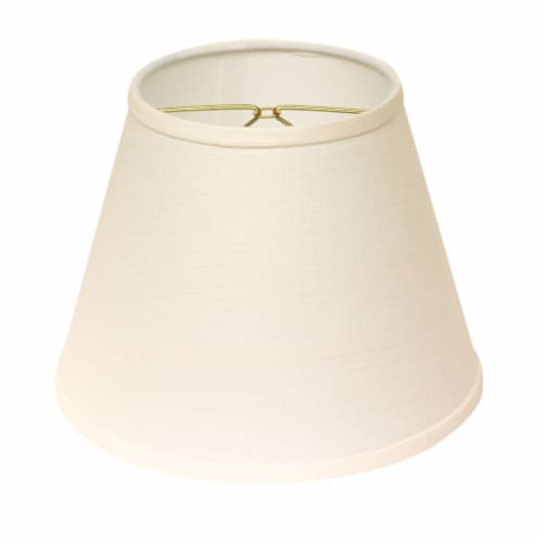 Slant Empire Hardback Lampshade with Bulb Clip, White Perspective: front
