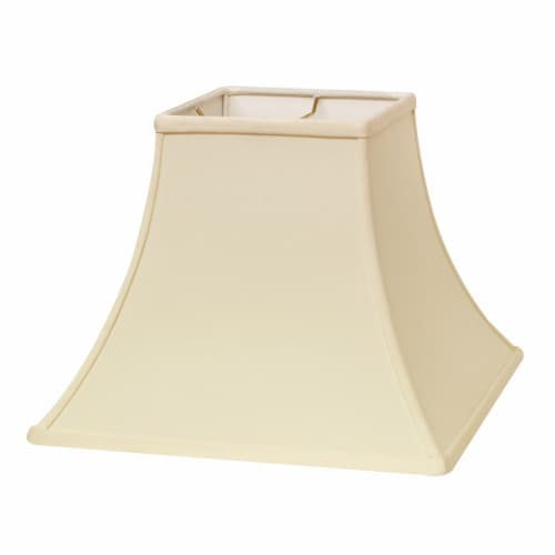 Slant Square Bell Hardback Lampshade with Washer Fitter, Egg Perspective: front