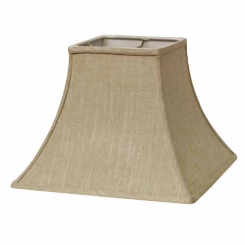 Slant Square Bell Hardback Lampshade with Washer Fitter, Stonewash Perspective: front