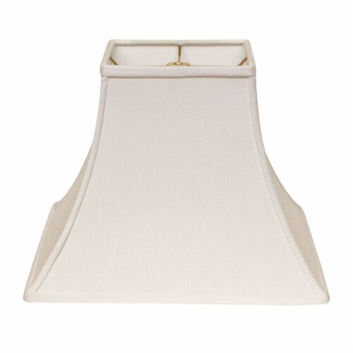 Slant Square Bell Hardback Lampshade with Washer Fitter, White Perspective: front