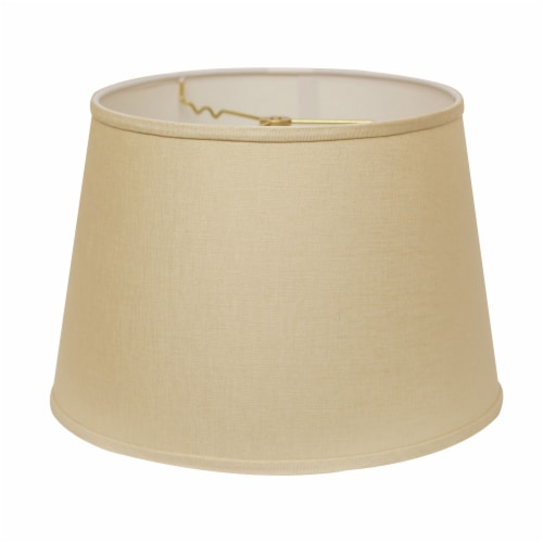 Slant Modified Empire Hardback Lampshade with Washer Fitter, Beige Perspective: front