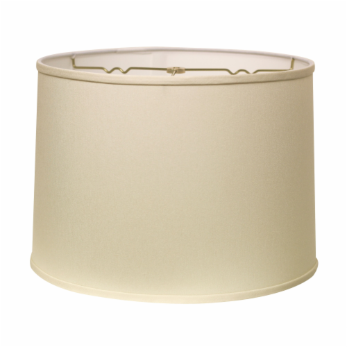 Slant Retro Drum Hardback Lampshade with Washer Fitter, Egg Perspective: front