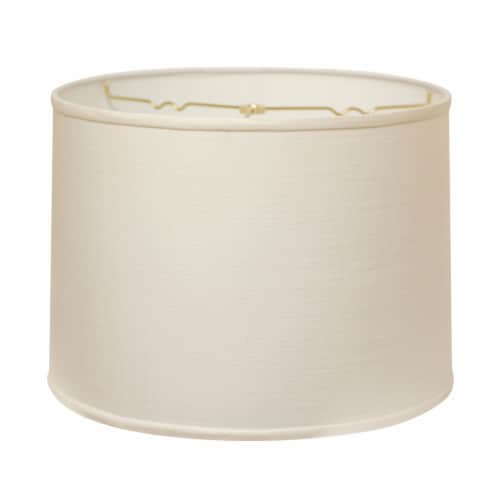 Slant Retro Drum Hardback Lampshade with Washer Fitter, White Perspective: front