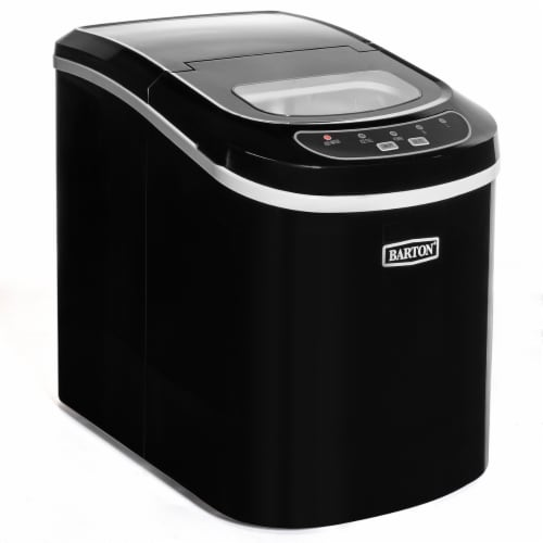 Compact Ice Maker Machine Mini Cube 2-Size 26lb / Day Perspective: front