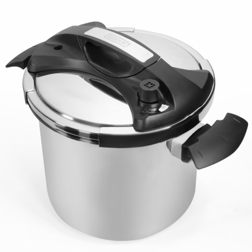 10 Quart Easy-Lock Lid Stovetop Pressure Cooker Induction Compatible Perspective: front