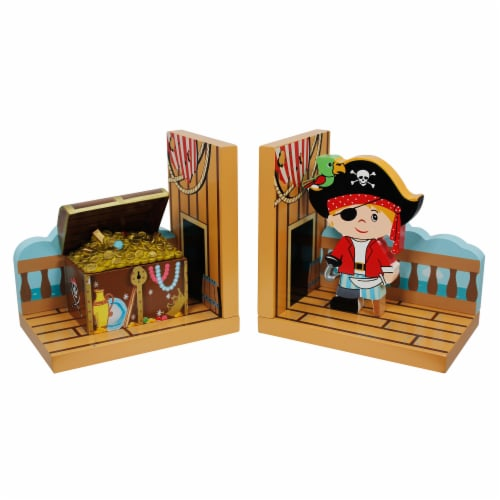 Fantasy Fields Children Wooden Bookends Kids Book Ends Decoration Gift TD-11605A Perspective: front