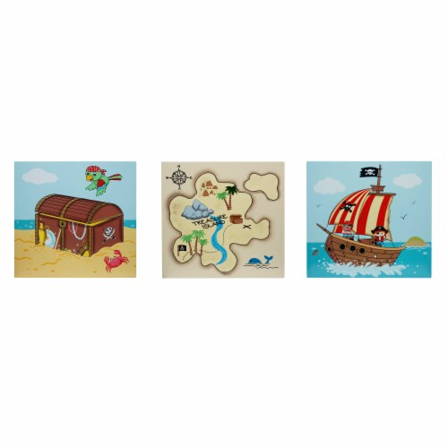 Fantasy Fields Childrens Pirate Canvas Wall Art Plaques Kids Bedroom TD-11633A Perspective: front