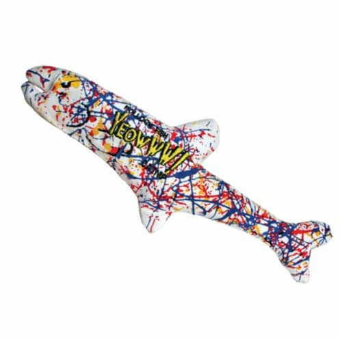 Yeowww! Catnip Pollock Fish 4 Pack | Pure Leaf & Flowertop | Cat and Kitten Toy Perspective: front