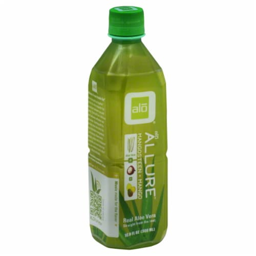 Alo Allure Mangosteen & Mango Drink Perspective: front