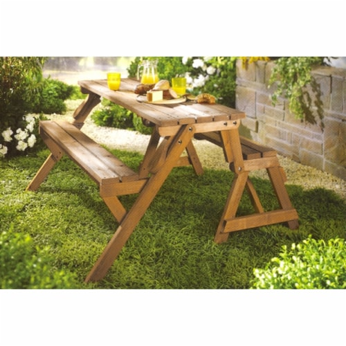 Interchangeable Picnic Table / Garden Bench Perspective: front