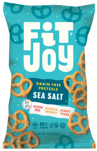 FitJoy Himalayan Pink Salt Grain Free Pretzel Twists Perspective: front