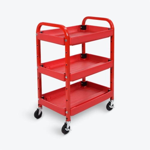 Luxor - Adjustable Utility Cart - Three Shelves Perspective: front