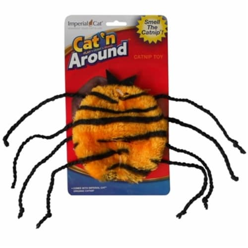 Imperial Cat Cat 'n Around Toys (on Hang Card) Spider Catnip Toy Perspective: front