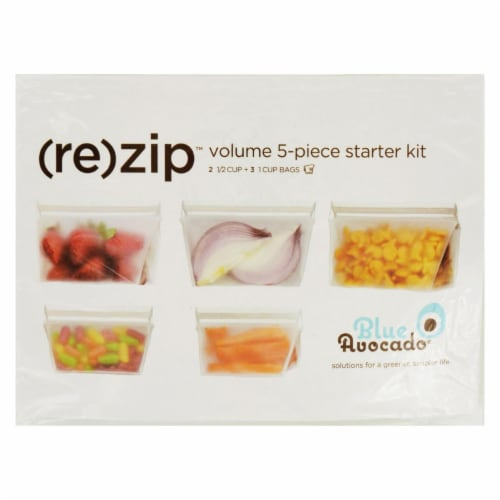 Blue Avocado - Bag - Re-Zip - Volume Starter Kit - Clear - 5 Pieces Perspective: front