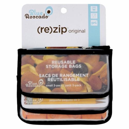 Blue Avocado - Snack Zip Bag - Black - 3 Pack Perspective: front