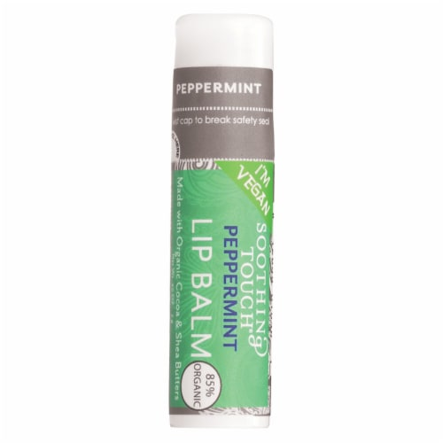 Soothing Touch Peppermint Lip Balm Perspective: front