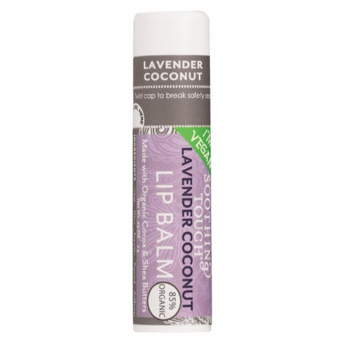 Soothing Touch Lavender Coconut Lip Balm Perspective: front