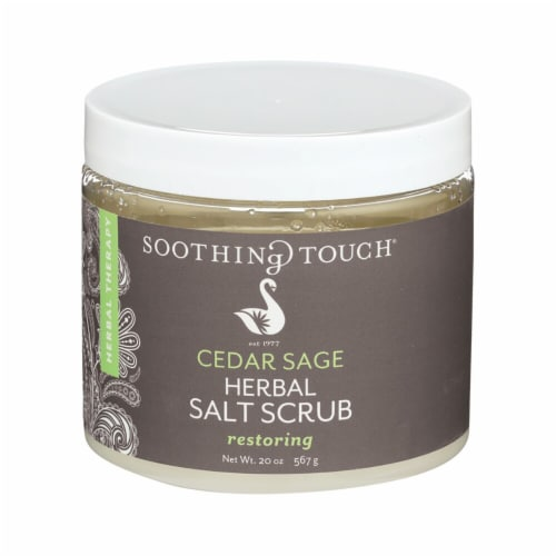 Soothing Touch  Cedar Sage Herbal Salt Scrub Perspective: front