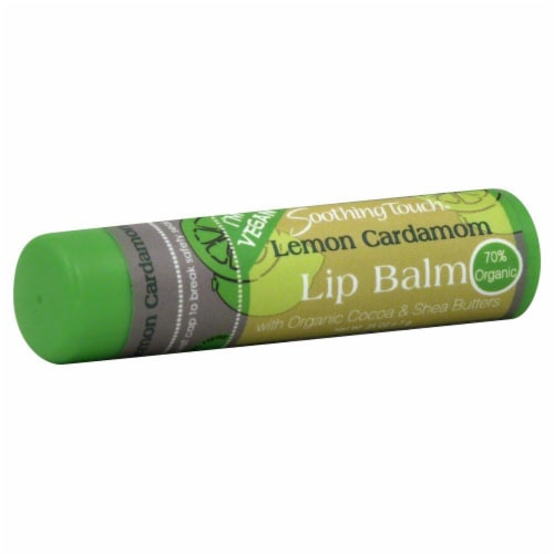 Soothing Touch Lemon Cardamom Lip Balm Perspective: front