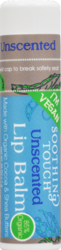 Soothing Touch Vegan Unscented Lipbalm Perspective: front