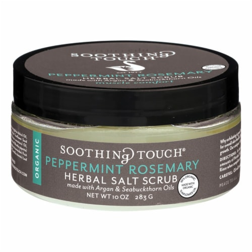 Soothing Touch Peppermint Rosemary Herbal Herbal Salt Scrub Perspective: front