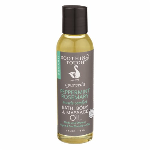 Soothing Touch Ayurveda Peppermint Rosemary Muscle Comfort Bath Body & Massage Oil Perspective: front