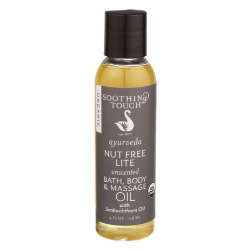 Soothing Touch Ayurveda Unscented Nut Free Lite Bath Body & Massage Oil Perspective: front