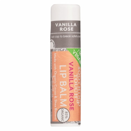Soothing Touch Vanilla Rose Vegan Lip Balm Perspective: front